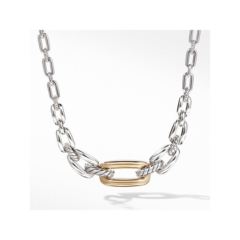 David Yurman Wellesley Link Short Necklace with 18K Gold