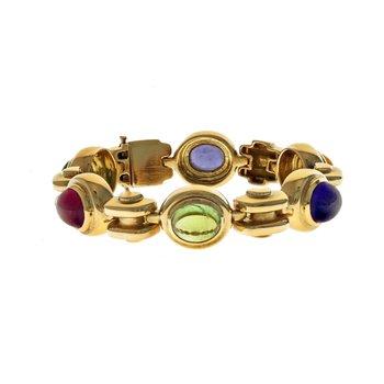 Oval Cabochon Link Bracelet