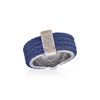 Blueberry Cable Petite Color Block Ring
