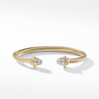 Renaissance Bracelet with Diamonds in 18K Gold, 5mm