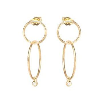Double Circle Hoop Earrings