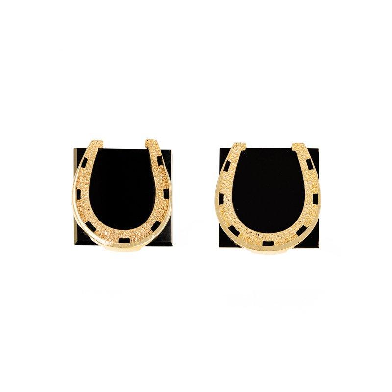 Estate Radcliffe Onyx Horseshoe Cufflinks