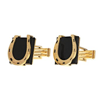 Onyx Horseshoe Cufflinks
