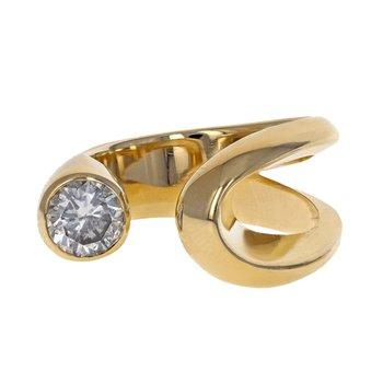 Asymmetrical Diamond Wrap Ring