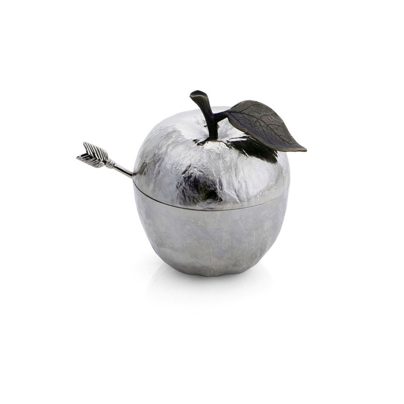 Michael Aram Apple Honey Pot with Spoon