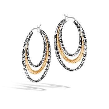 Dot Brushed Long Graduated Link Earrings