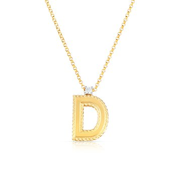 Princess Collection Letter 'D' Pendant