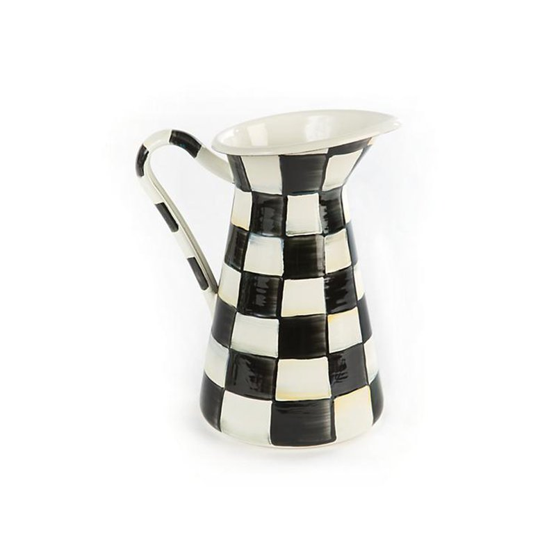 Mackenzie-Childs Courtly Check Practical Pitcher-Small