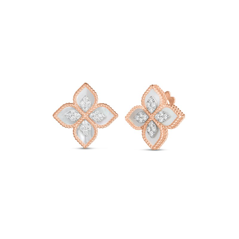 Roberto Coin Princess Flower & Mother-of-Pearl Earrings