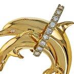 Estate Radcliffe Diamond Dolphin Pendant