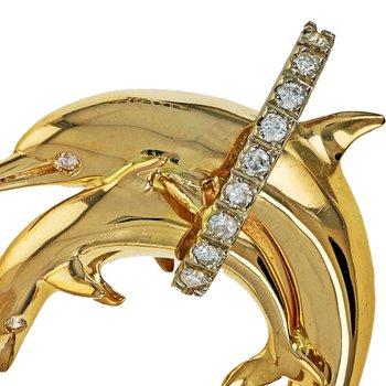 Diamond Dolphin Pendant