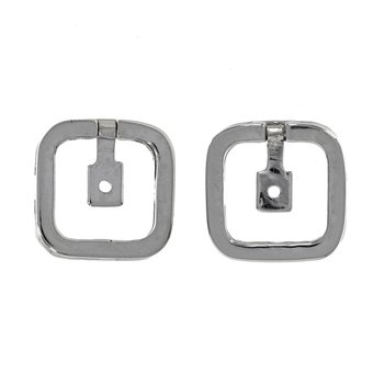 Diamond Cushion Shape Earring Jackets