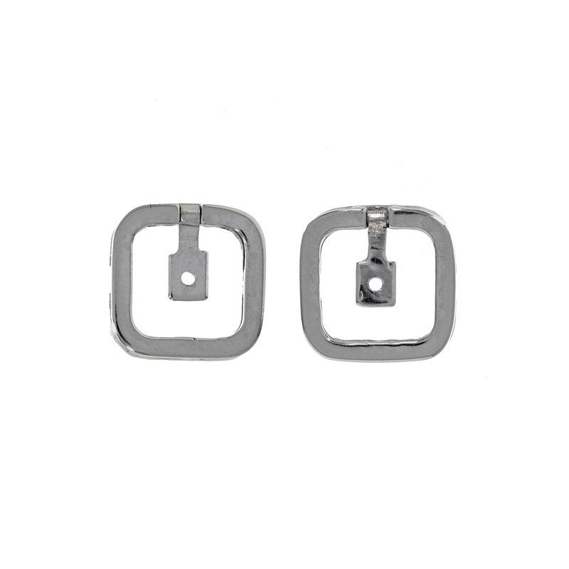 Estate Radcliffe Diamond Cushion Shape Earring Jackets