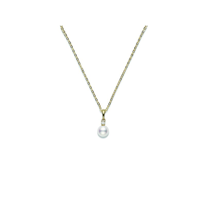 Mikimoto Pearl & Diamond Pendant Necklace