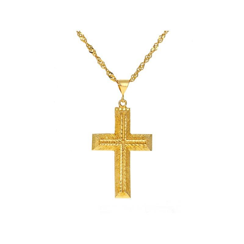 Estate Radcliffe Cross Pendant Necklace