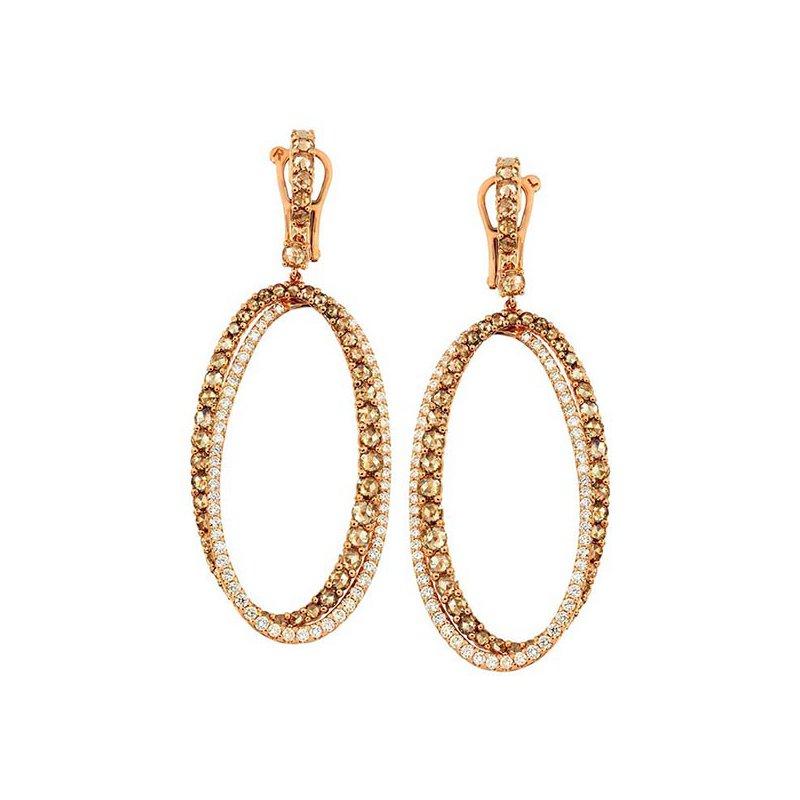 Etho Maria Diamond Oval Drop Earrings