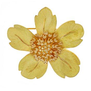 Petal Flower Brooch