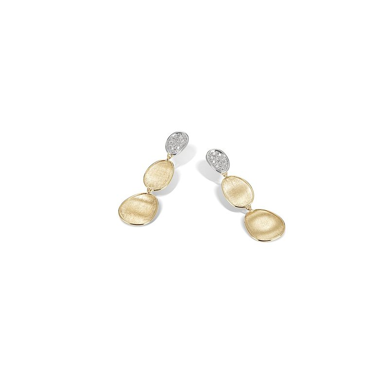 Marco Bicego Lunaria Collection Diamond Petite Triple Drop Earrings