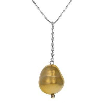Drop Bean Diamond Necklace