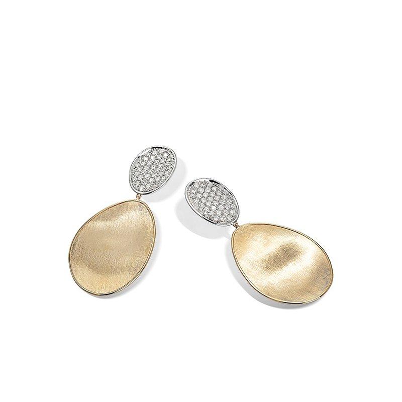 Marco Bicego Lunaria Collection Medium Double Drop Earrings