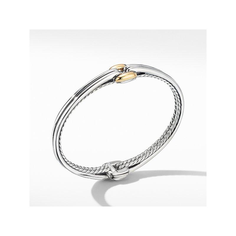David Yurman Thoroughbred Center Link Bracelet with 18K Yellow Gold