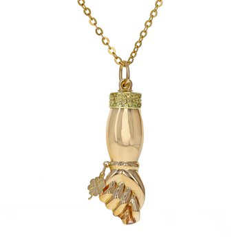Fig Sign Pendant Necklace