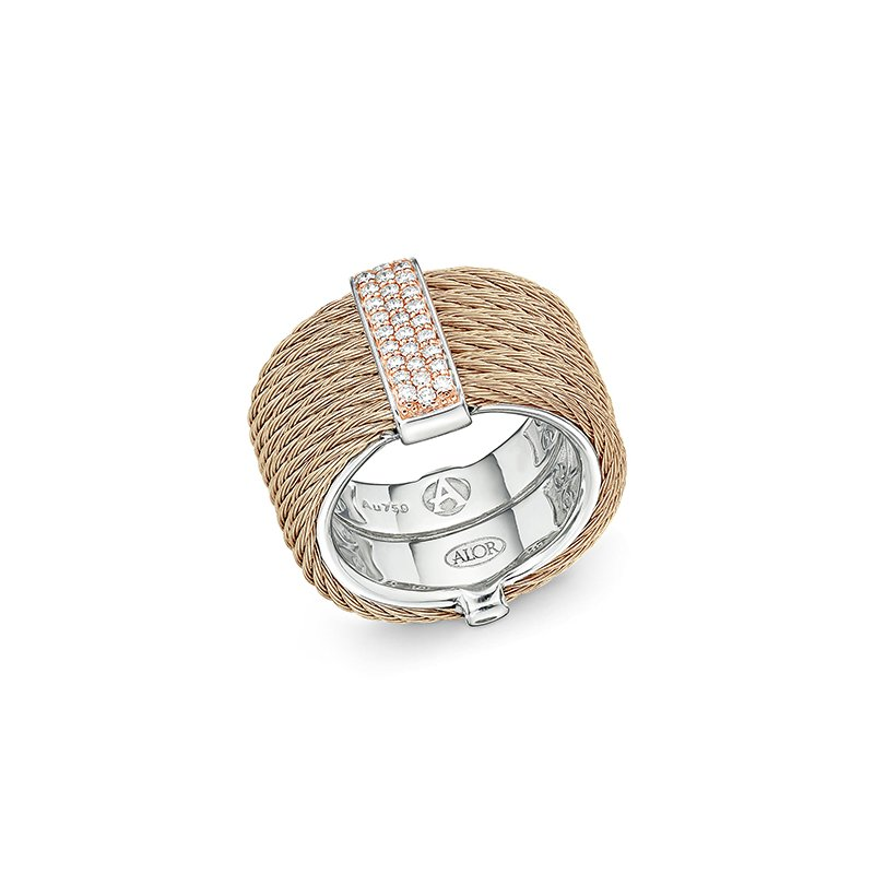 ALOR Carnation Cable Ring