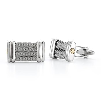 Grey Cable Signature Cuff Links