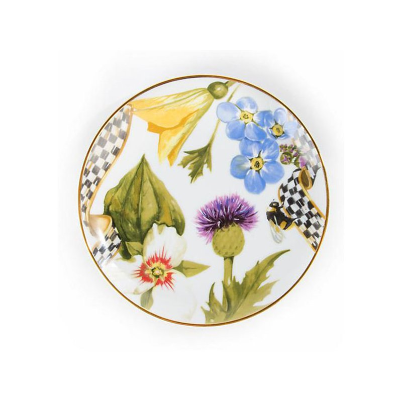 Mackenzie-Childs Thistle & Bee Bread & Butter Plate