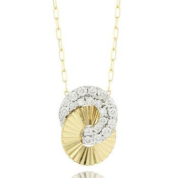 Mini Interlocking Aura Necklace