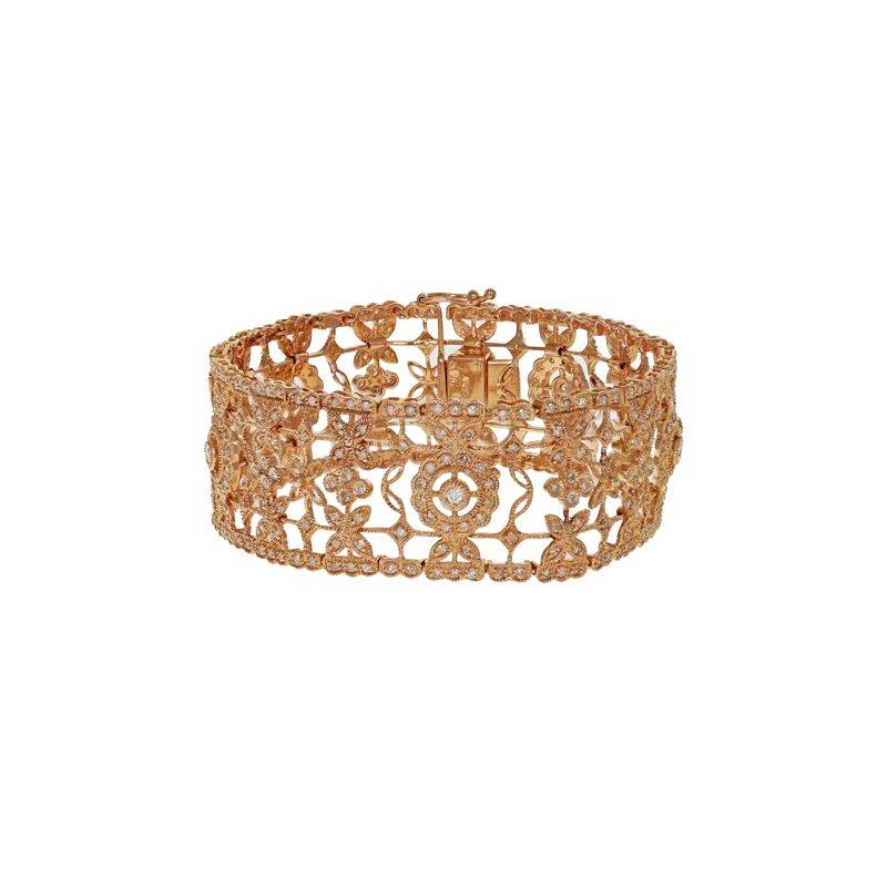 Estate Radcliffe Diamond Filigree Bracelet