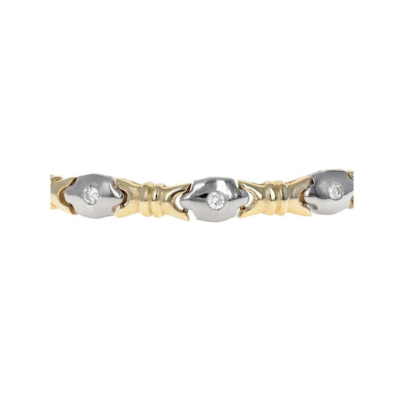Estate Radcliffe Diamond Oval Link Bracelet