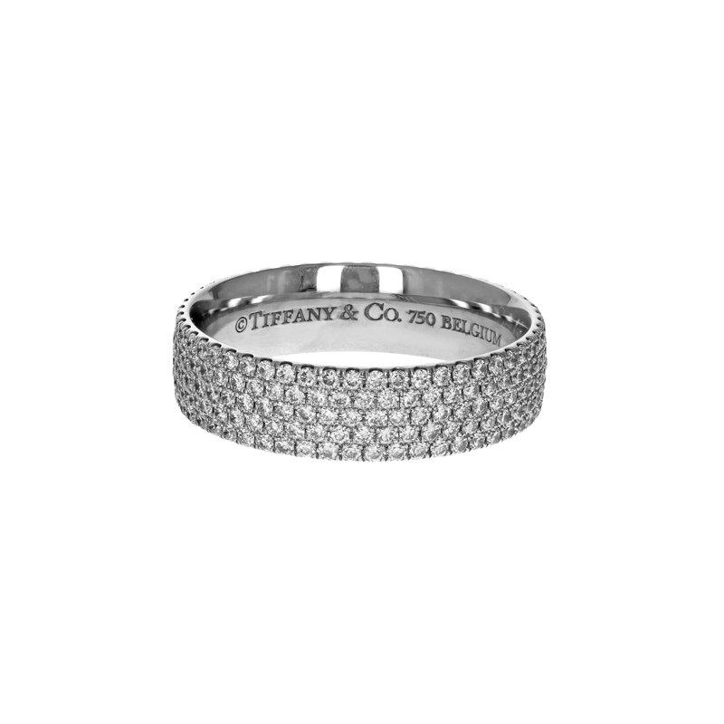 Estate Tiffany & Co. Metro 5 Row Diamond Ring