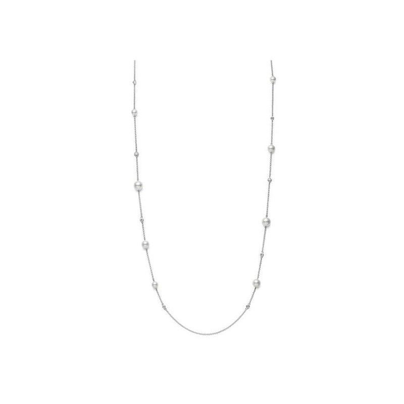 """Mikimoto 31"""" Akyoa Pearl Necklace"""