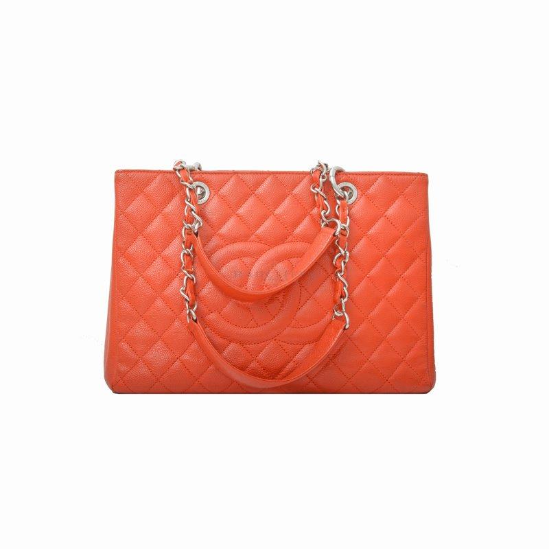 CHANEL Red GST Caviar Bag