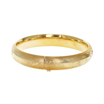 Hollow Florentine Bangle