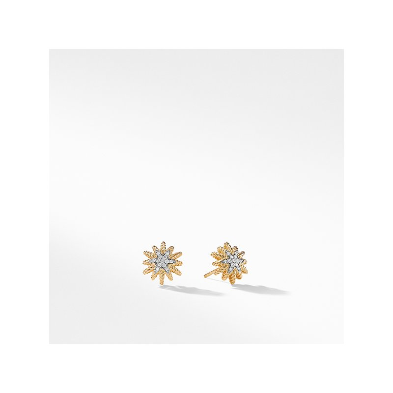 David Yurman Earrings with Diamonds in 18K Gold