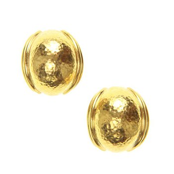 Small Gold Puff Earrings