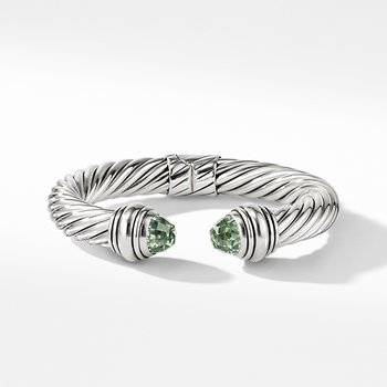 Cable Classics Bracelet with Prasiolite, 10mm