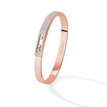 Move Pave Diamond Bangle