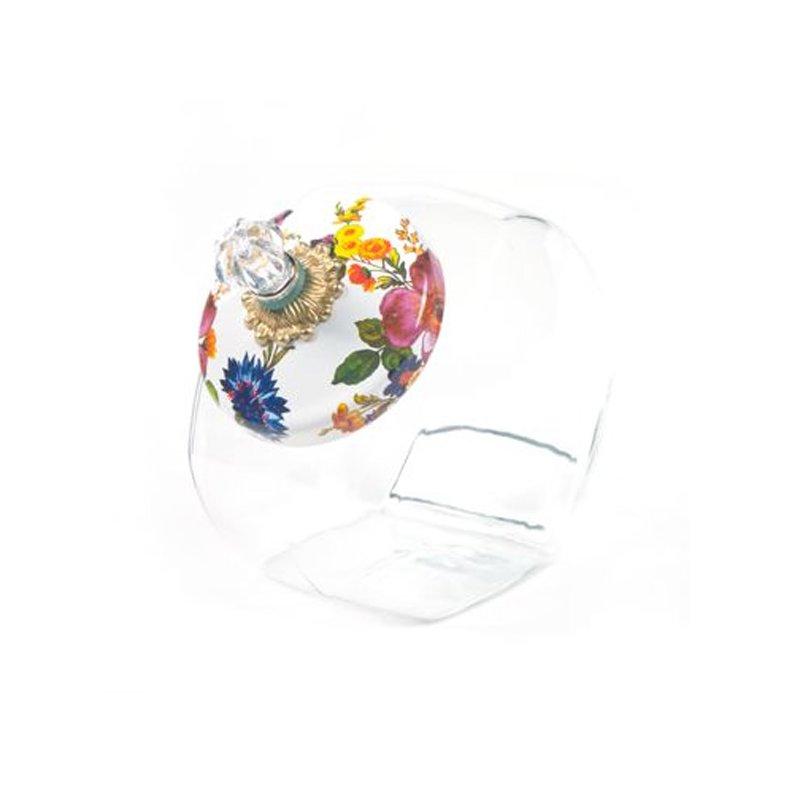 Mackenzie-Childs Cookie Jar with Flower Market Enamel Lid-White