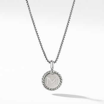 Initial Charm Necklace with Diamonds