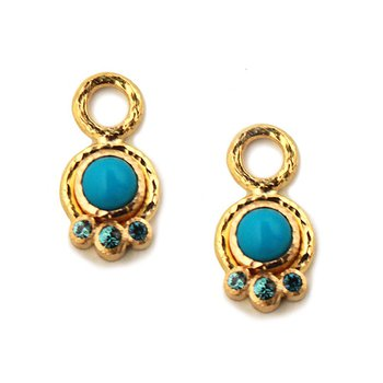 Sleeping Beauty Turquoise Earring Pendants
