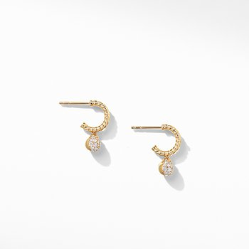 Solari Hoop Pave Earrings with Diamonds in 18K Gold
