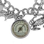 Estate Radcliffe Multi Charm Sterling Silver Bracelet