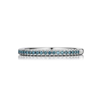 Enhanced Blue Diamond Wedding Band