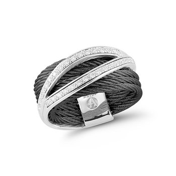 Black Cable Divided Ring