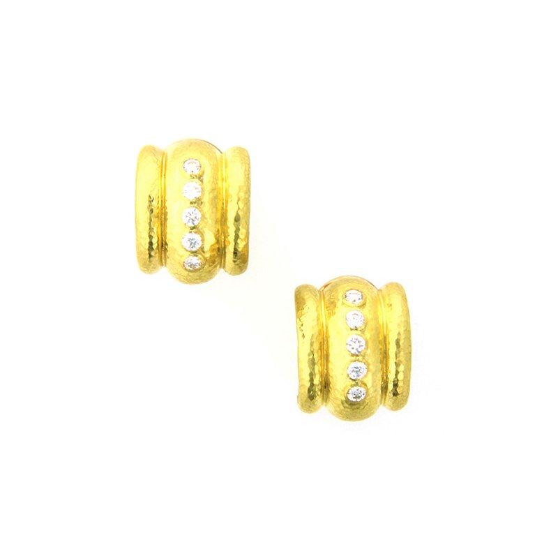 """Elizabeth Locke Diamond """"Amalfi"""" Earrings"""