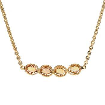 Four Opal Necklace
