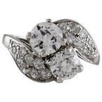 Estate Radcliffe Platinum Diamond Bypass Ring